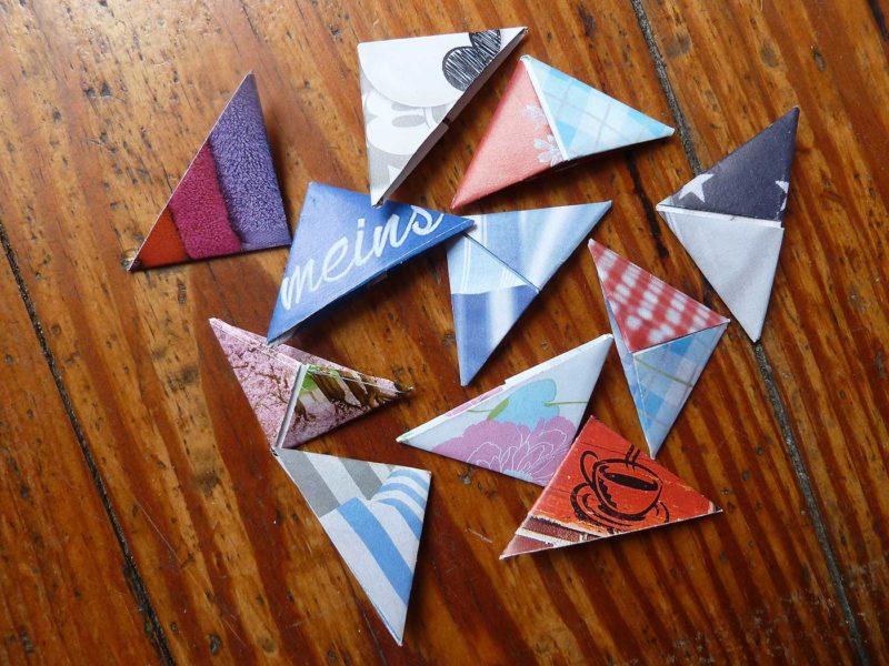 Origami-Lesezeichen