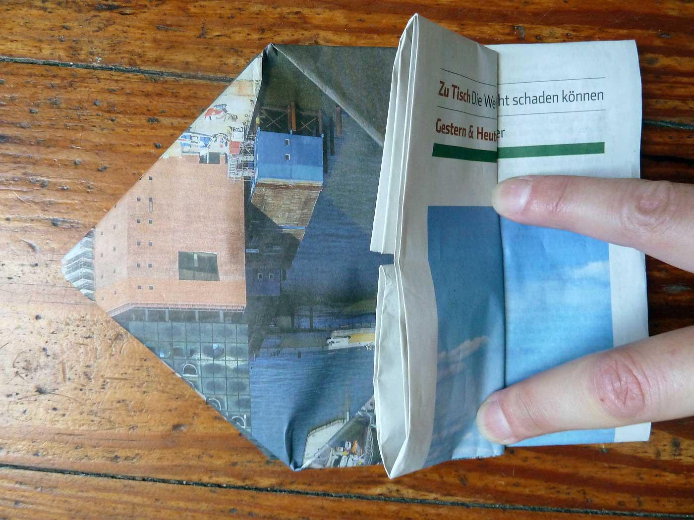 Origami Papierkorb Bild 16