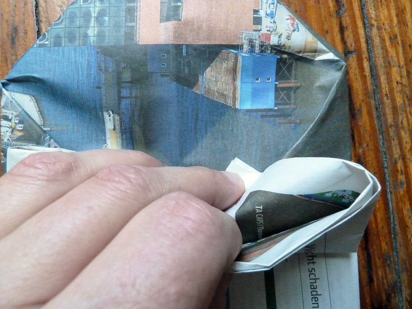 Origami Papierkorb Bild 17