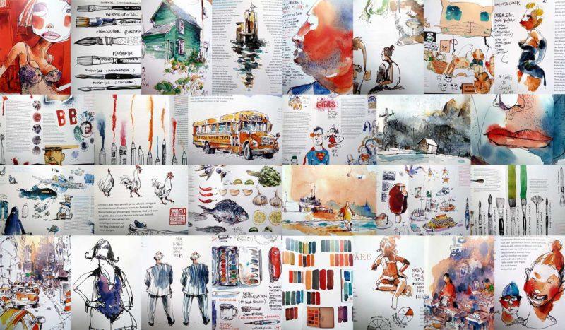 Collage Wasserfarbe für Gestalter