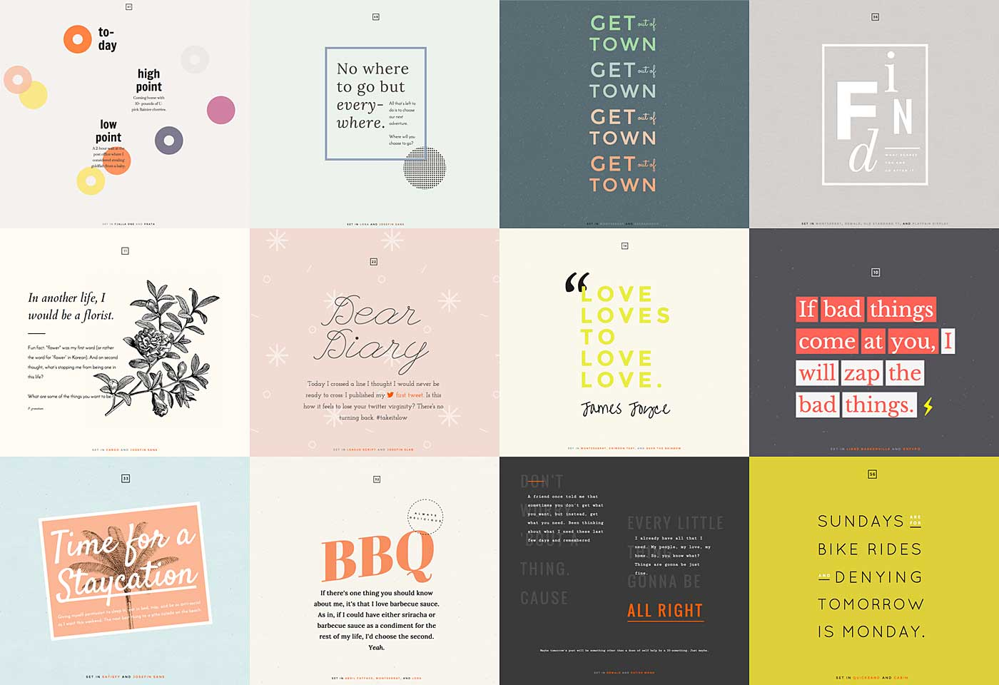 Schrift-Inspiration - 100 Days of Fonts